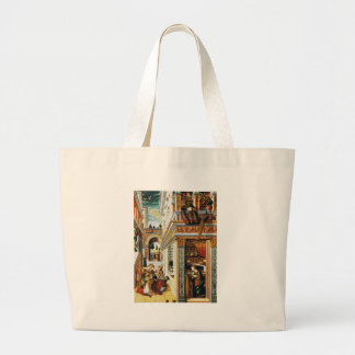 Annunciation With St. Emidius 1486 Tote Bags