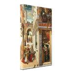 Annunciation With St. Emidius, 1486 Canvas Prints