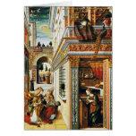 Annunciation With St. Emidius 1486 Greeting Card