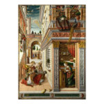 Annunciation With St. Emidius, 1486 Photo Art
