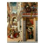 Annunciation With St. Emidius, 1486 Postcard