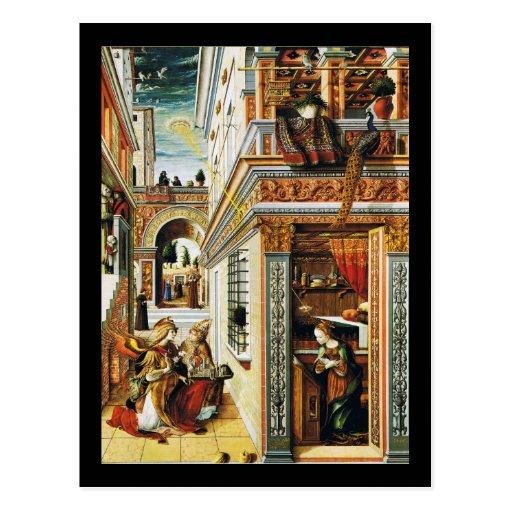 Annunciation With St. Emidius 1486 Postcard