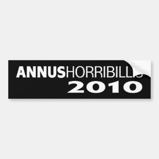 Annus Horribillis 2010 Bumper Sticker