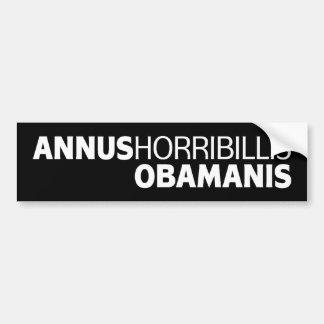 Annus Horribillis Obamanis Bumper Stickers