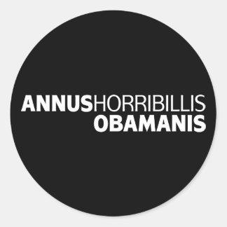 Annus Horribillis Obamanis Etiqueta Redonda
