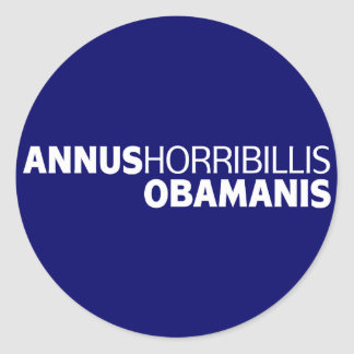 Annus Horribillis Obamanis Pegatina Redonda