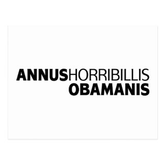 Annus Horribillis Obamanis Postcard