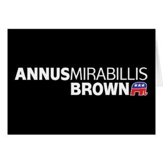 Annus Mirabillis Brown Greeting Card