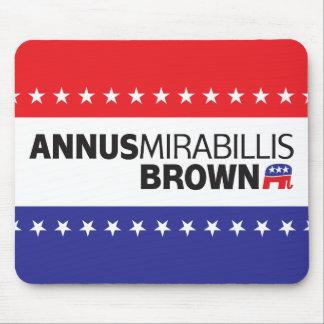 Annus Mirabillis Brown Mouse Pad