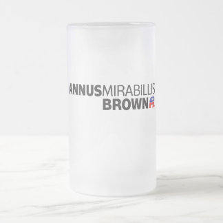 Annus Mirabillis Brown 16 Oz Frosted Glass Beer Mug