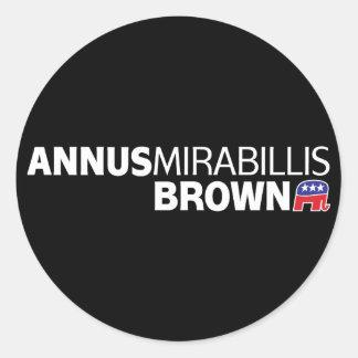 Annus Mirabillis Brown Etiqueta Redonda