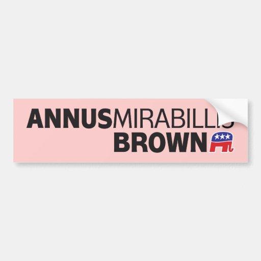 Annus Mirabillis Brown Pegatina Para Auto