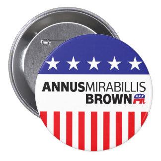 Annus Mirabillis Brown Pin Redondo De 3 Pulgadas