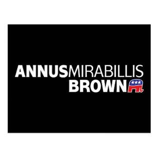 Annus Mirabillis Brown Postcard