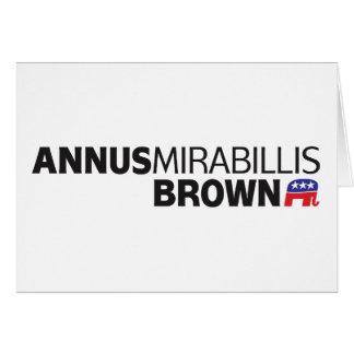 Annus Mirabillis Brown Tarjeta