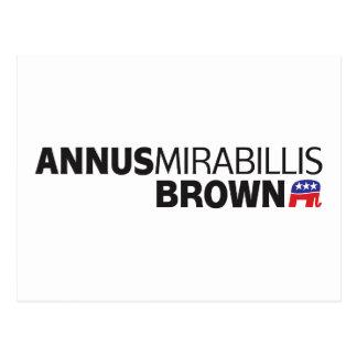 Annus Mirabillis Brown Tarjeta Postal