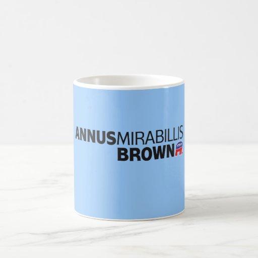 Annus Mirabillis Brown Taza De Café