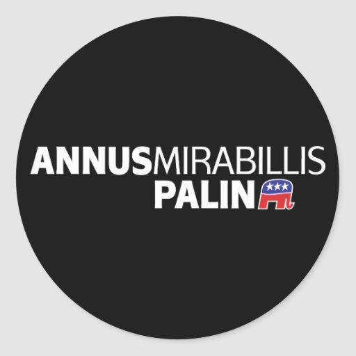 Annus Mirabillis Palin Pegatina Redonda