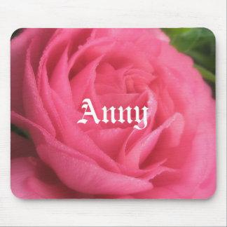 Anny se ruboriza los chicas florales rosados Mouse Mousepad