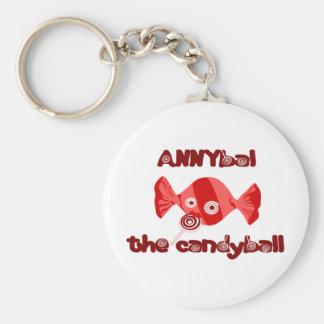 annyball candy ball basic round button keychain