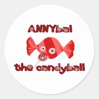 annyball candy ball classic round sticker