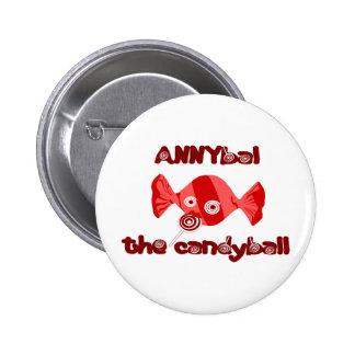 annyball candy ball pinback button