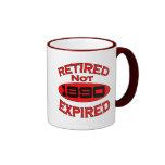 Año 1990 del retiro taza de café