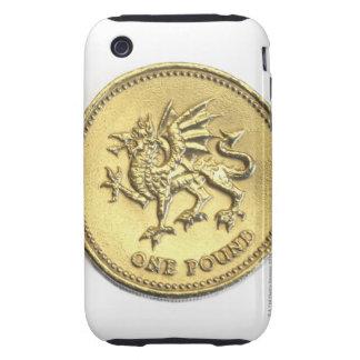 año-2000, mostrando el detalle del dragón passant tough iPhone 3 cobertura