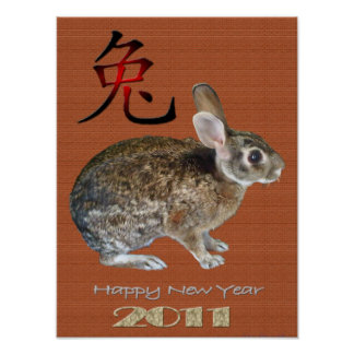 Año 2011 del conejo impresiones