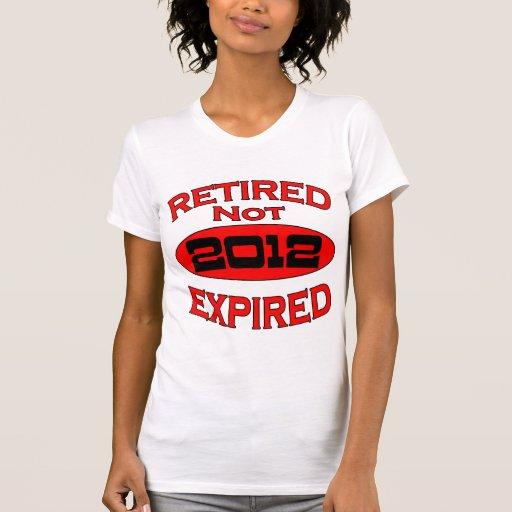 Año 2012 del retiro camiseta