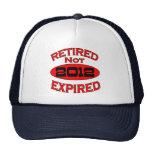 Año 2012 del retiro gorros