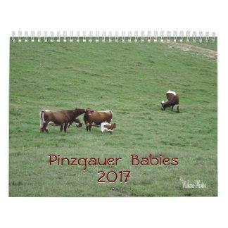 Año 2017 del Calendario-personalizar de los bebés Calendario De Pared
