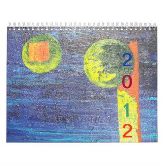 Año abstracto de 2012 calendario