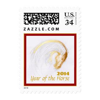 Año adaptable del franqueo del caballo sello