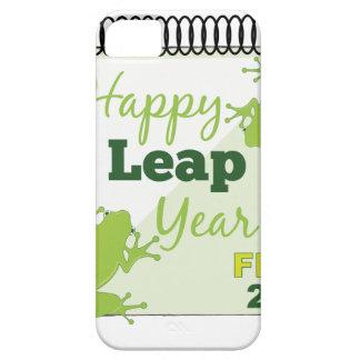 Año bisiesto 29 de febrero feliz iPhone 5 funda