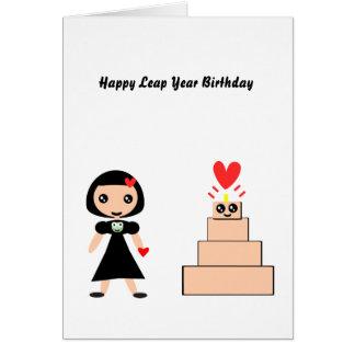 Año bisiesto del feliz cumpleaños tarjeta de felicitación