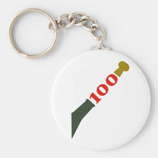 año-celebración 100 llavero personalizado