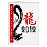 Año chino 2012 del dragón tarjetas
