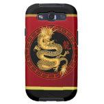 Año chino adornado del dragón 2012 galaxy SIII fundas