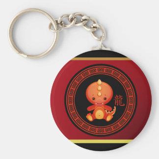 Año chino adornado del llavero del dragón