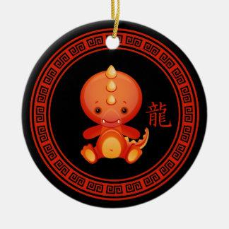 Año chino adornado del ornamento del dragón ornamentos de navidad