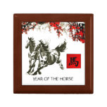 Año chino de la caja de regalo del caballo