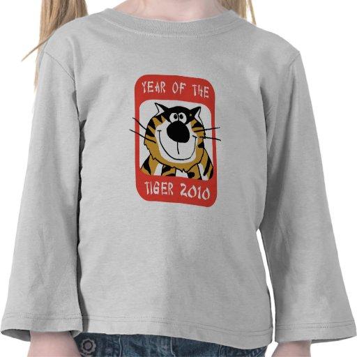 Año chino de la camiseta 2010 del tigre