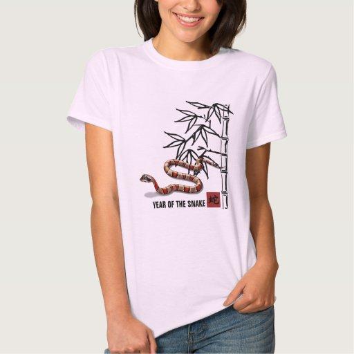 Año chino de la camiseta de la serpiente remeras