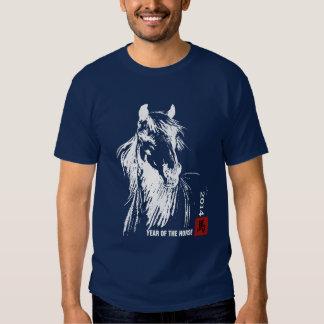 Año chino de la camiseta del caballo playeras