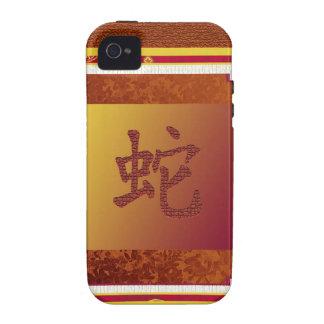 año chino de la muestra de la serpiente iPhone 4/4S funda