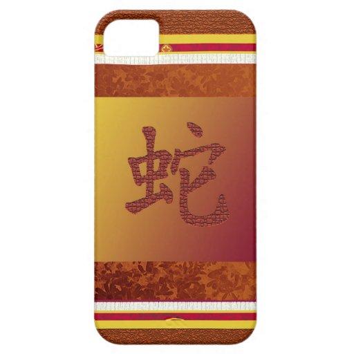año chino de la muestra de la serpiente iPhone 5 cárcasas