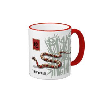 Año chino de la taza del regalo de la serpiente