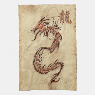 Año chino de la toalla de Asia del dragón