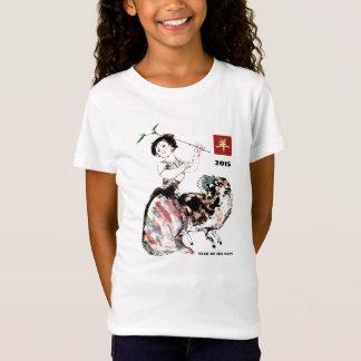 Año chino de las camisetas de encargo del regalo poleras